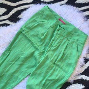 Alice + Olivia Silk pants cuffed